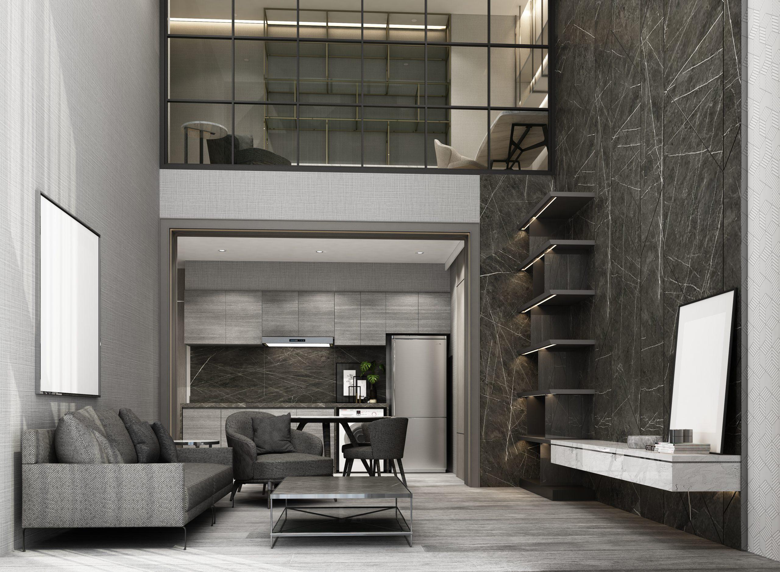 Comment décorer un intérieur avec un plafond haut ?